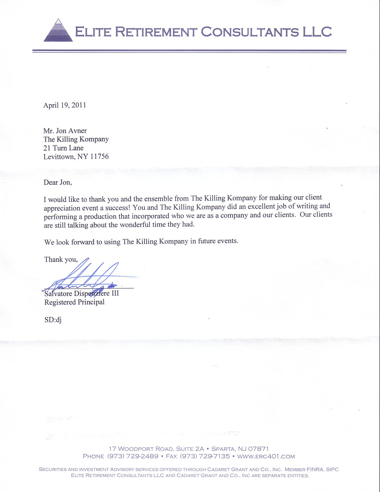 finra 3210 letter template  THE KILLING KOMPANY - MURDER MYSTERY DINNER THEATRE SHOWS ...